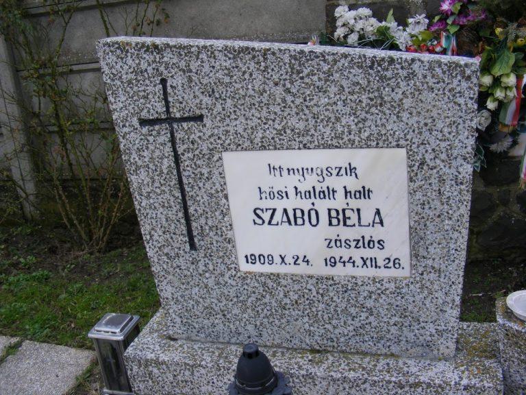 Szabó Béla zászlós sírja az ipolyszalkai temetőben
