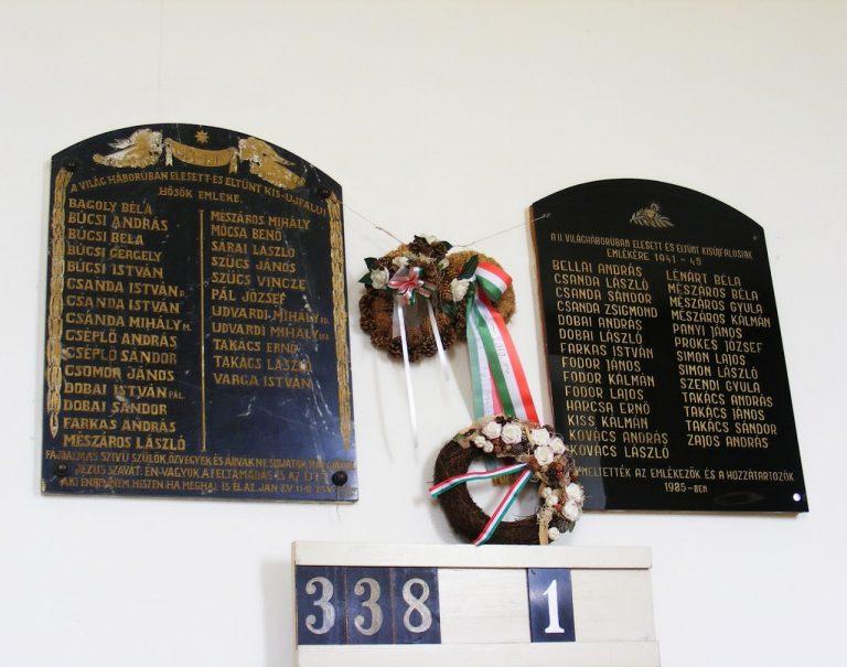 Az I. és II. világháború áldozatai emlékére