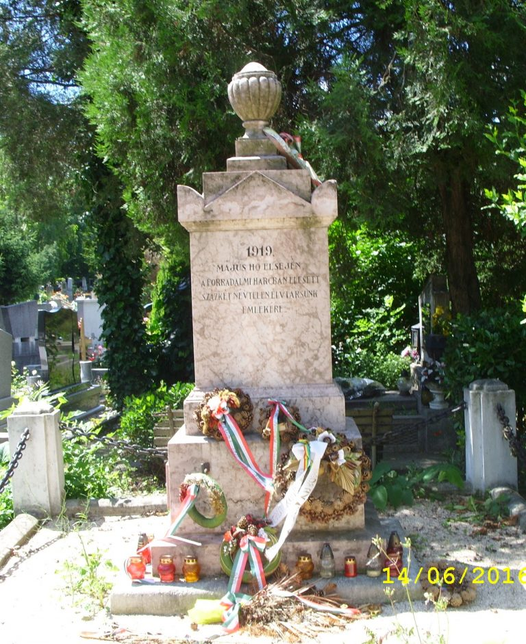 1919. májusában elesett magyar katonák emlékére