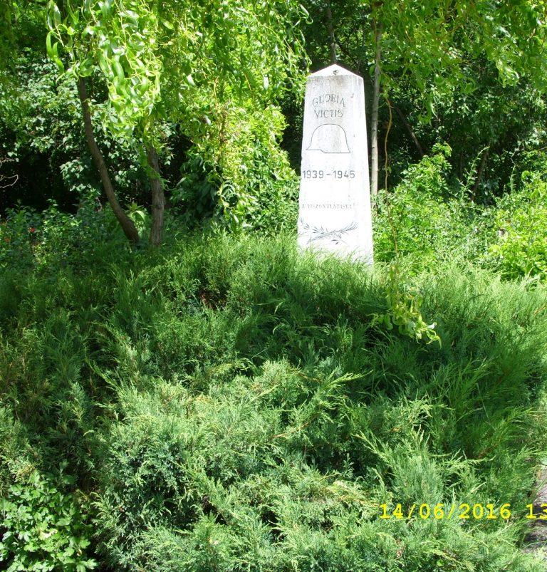 A II. világháborúban elesett magyar katonák sírhelye volt egykor