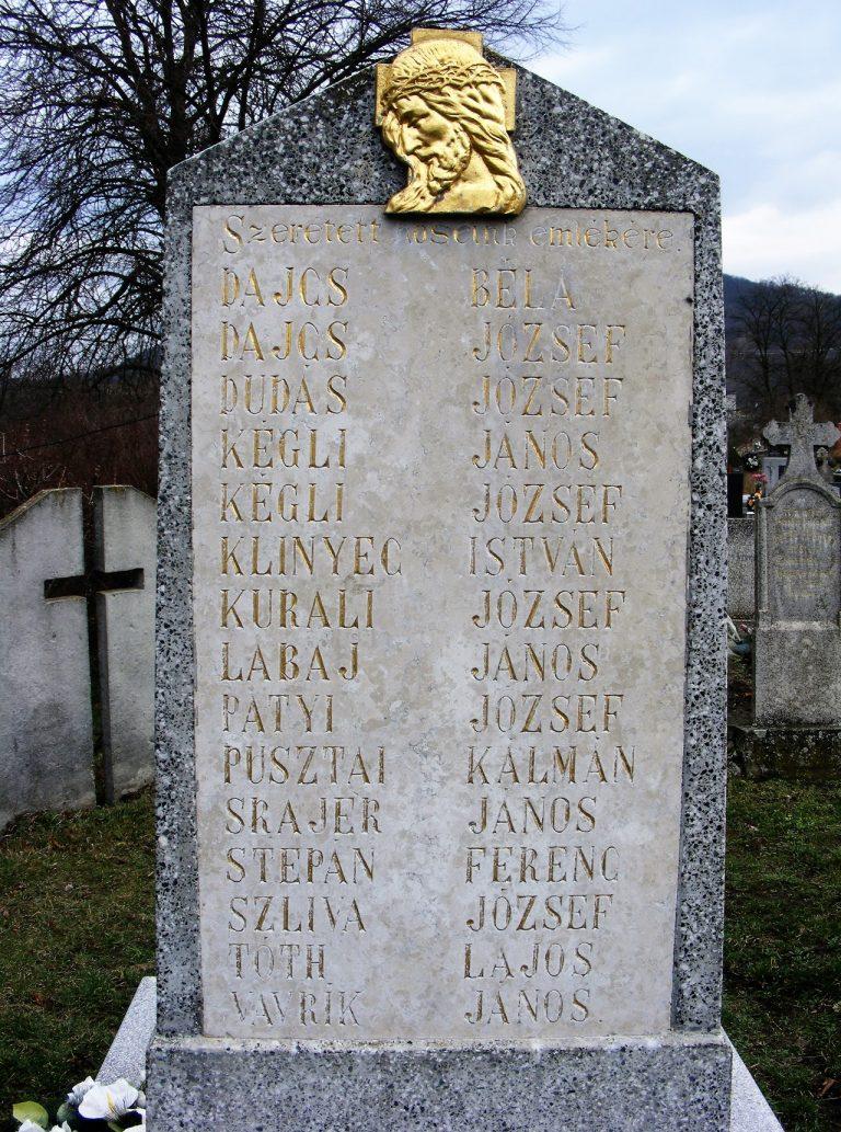 A II. világháborúban elesettek emlékére