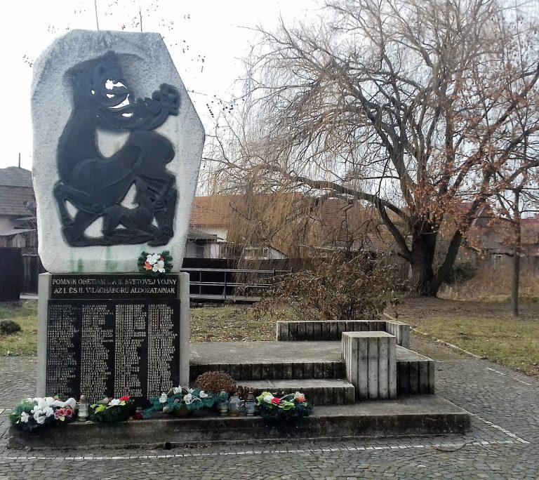 Az I. és II. világháborúban elesettek emlékére