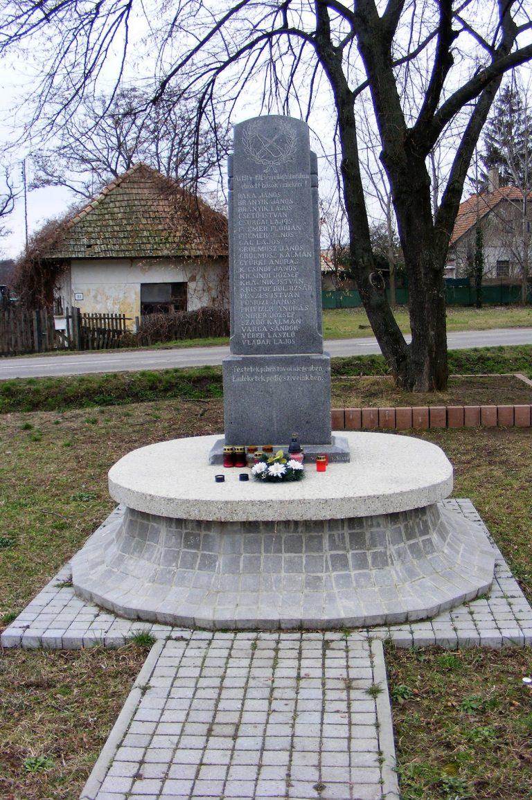 Az I. világháborúban elesett hősök emlékére